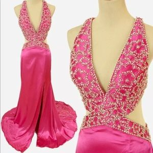 Jovani Evening Dress Hot Pink